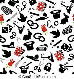 magician seamless pattern