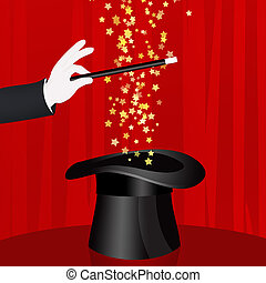 Magician show - illustration of Magician show