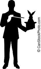 Magician Silhouette