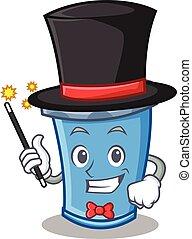 Magician soda drink character cartoon