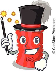 Magician tincan ribbed metal character a canned vector...