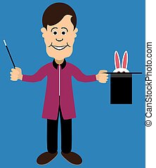 Magician with Shy Rabbit
