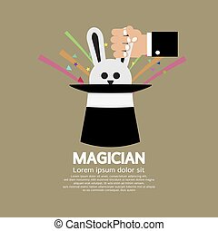 Magician's Hand With Rabbit.