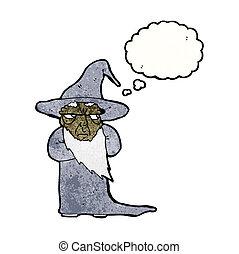 magicien, dessin animé