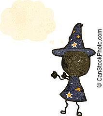 magicien, retro, dessin animé