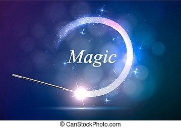 magiczny, tło, ogień