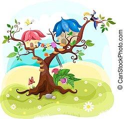 magie, arbre