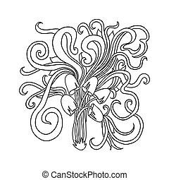 champignons hallucinog ne moisissure ou psych d lique champignons illustration moisissure. Black Bedroom Furniture Sets. Home Design Ideas