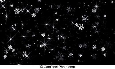magie, chute neige, résumé, fond
