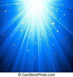 magie, fond, résumé, lumière bleue