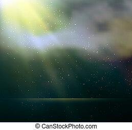 magisch, abstract, achtergrond, licht