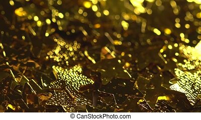 magisch, fallender , goldenes, sternen