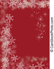 magisch, kerstmis, achtergrond, rood
