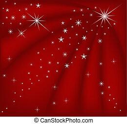 magisch, kerstmis, rood