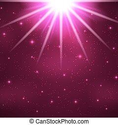 magisch, licht, abstract, illustratie, vector, achtergrond