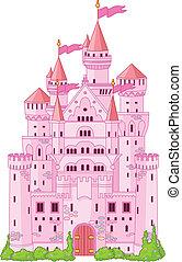 magisch, prinsesje, kasteel
