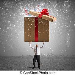 magisches, großes geschenk