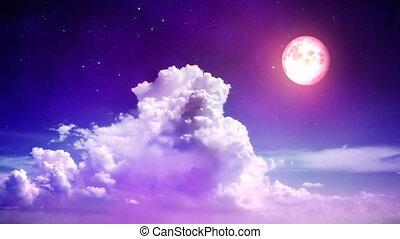 magisches, nacht himmel
