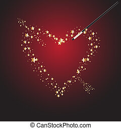magisches, valentine, zauberstab