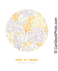 magisk, blommig, cirkel, dekor, mönster, bakgrund