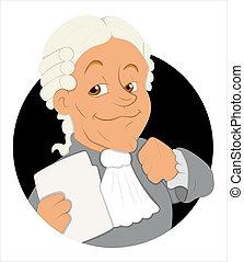 Magistrate Cartoon Vector - Creative Conceptual Design Art...