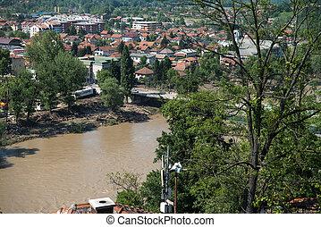 maglaj, ボスニア, ヘルツェゴビナ, -, 洪水, 2014