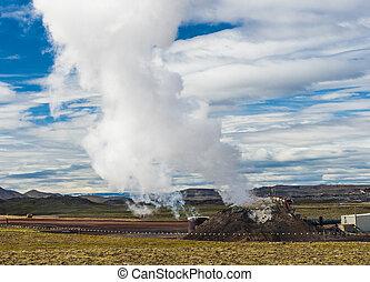 Magma well - Deep magma well created in Iceland deep...