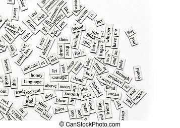magnético, palabras, variado