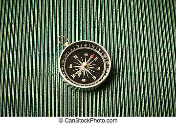 magnétique, papier, vert, compas