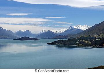 magnífico, natureza, de, nova zelândia