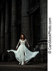 magnífico, vestido nupcial