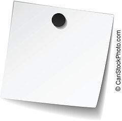 magnes, nuta, biały, wektor, papier