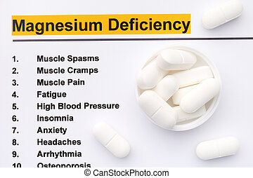 Magnesium deficiency. Close up.