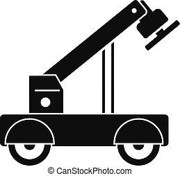 Magnet crane icon, simple style