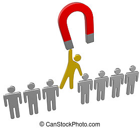 Magnet find choose hire person group - Magnet to raise best ...
