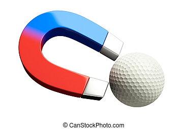 magnet golf ball