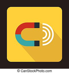 Magnet icon in flat style