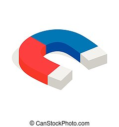 Magnet icon, isometric 3d style