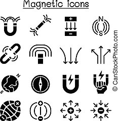 Magnet icon set