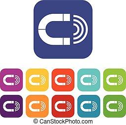Magnet icons set
