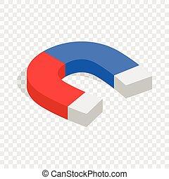 Magnet isometric icon