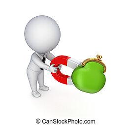 magnet, osoba, malý, horseshoe., 3
