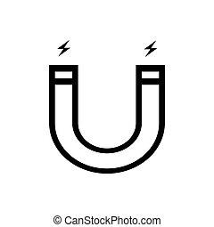 Magnet outline icon. Symbol, logo illustration for mobile concept and web design.