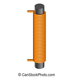 Magnet spring coil icon. Cartoon of magnet spring coil icon for web design isolated on white background