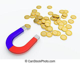 magnete, soldi
