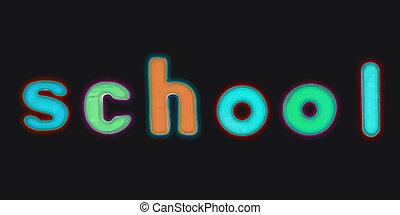Magnetic alphabet letters - School
