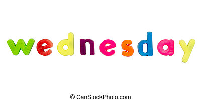 Magnetic alphabet letters - Wednesday