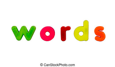 Magnetic alphabet letters - Words