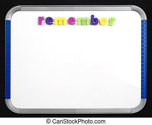 Magnetic Board - Remember - A magnetic letter board with the...