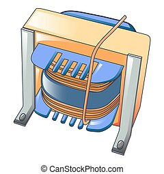 Magnetic coil icon, cartoon style - Magnetic coil icon....